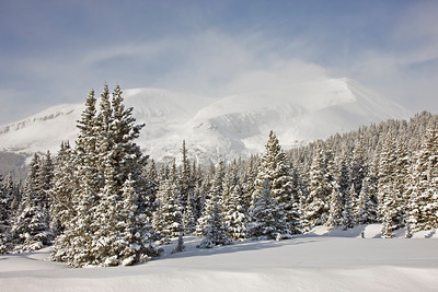 Continental Divide and Mt Lincoln