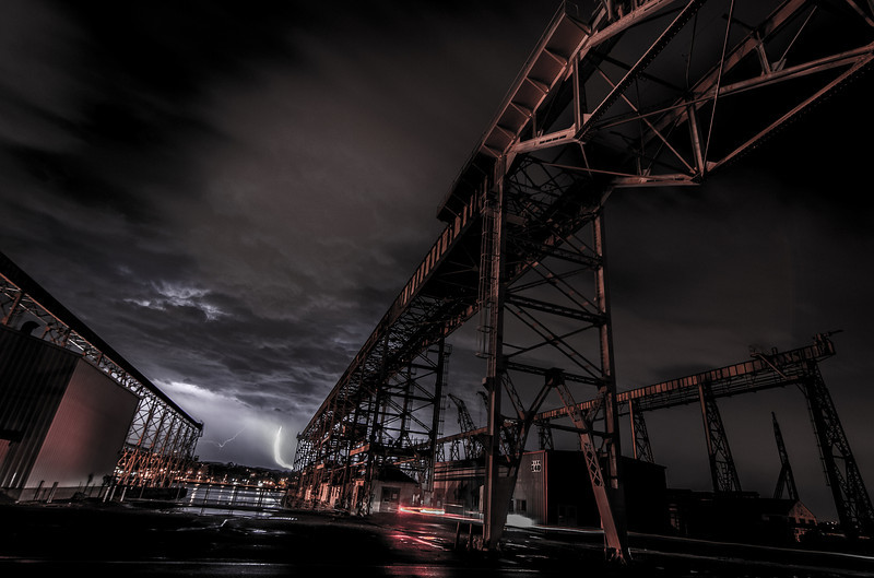 Lightning at Mare Island by andy morris