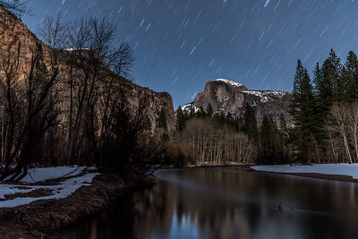 Star Trails Over Yosemite