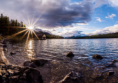 Sunrise Over Maligne Lake