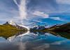 Schreckhorn reflected in Bachalpsee over Grindelwald, Switzerland