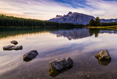 Early Morning Calm at Two Jack Lake