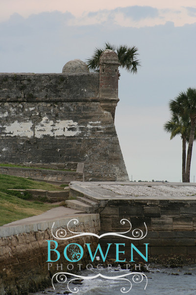 The old Spanish Fort in St Augustine Florida. The Nation's oldest city