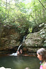 I caught these kids cooling off in the pool at the bottom of Bue Hole Falls.  This pool is why the falls are named Blue Hole