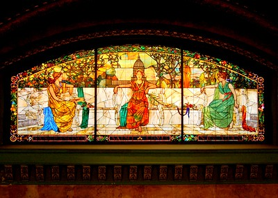 Stained glass window at Union Station, St. Louis