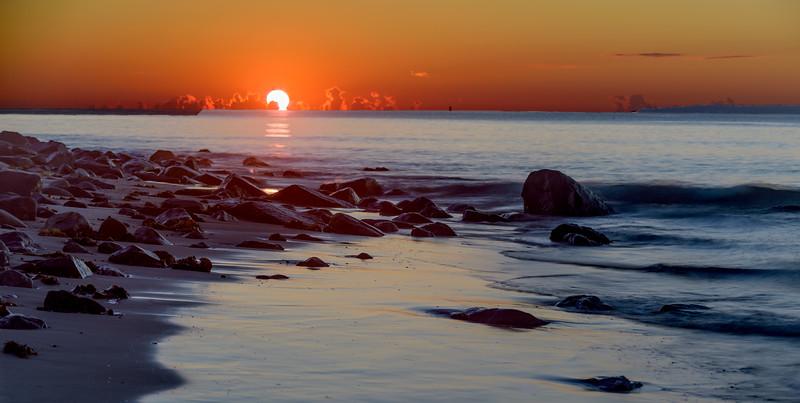 sunrise at Plum Island