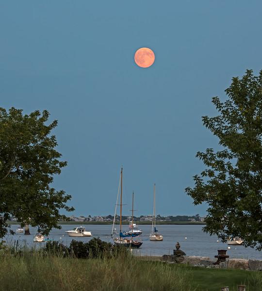Moon over Newburyport