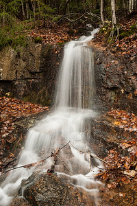 Small fall caused by runoff