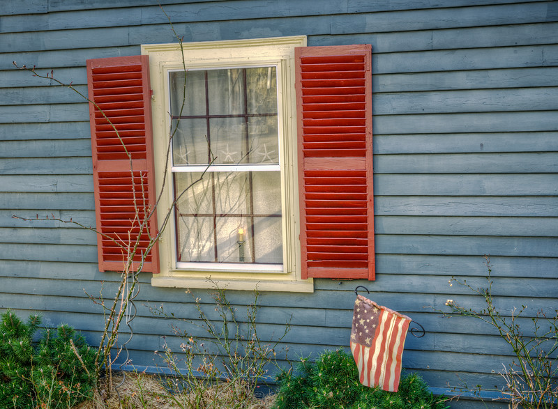 WIndow and flag