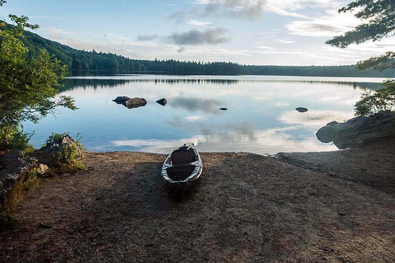 Kayak and Pond