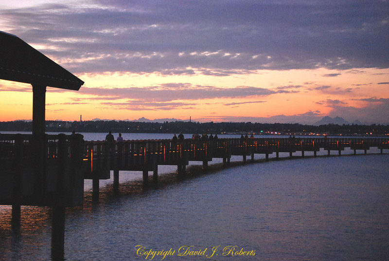 Taylor Dock is an inviting place to walk in the evening light. Bellingham WA