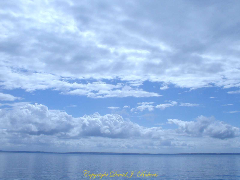 Sky over Smith Island in Puget Sound