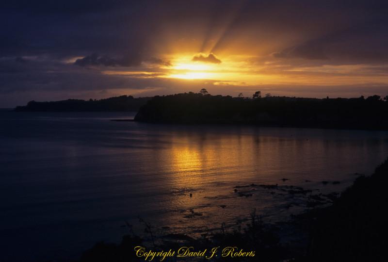 Stanmore Bay at sunrise, Whangaparoa, NewZealand