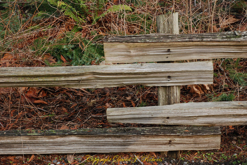 Split rail garden fence