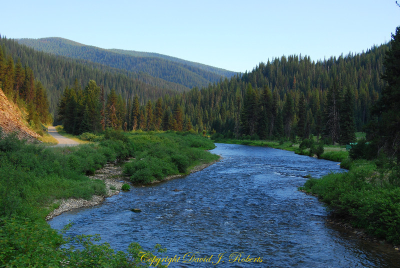 St Joes River in Central Idaho - an amazing place for trout fishing.