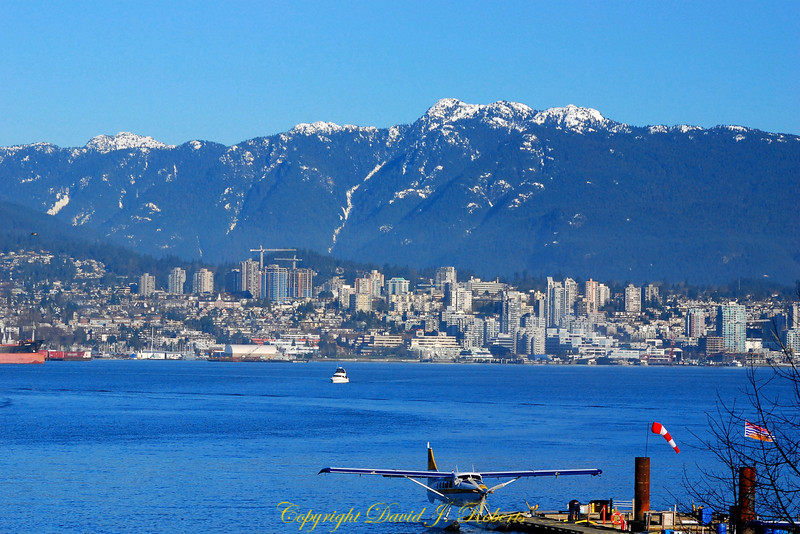 A great view of Burrard Inlet, North Vancouver and the surrounding peaks. What a gorgeous setting for a city!