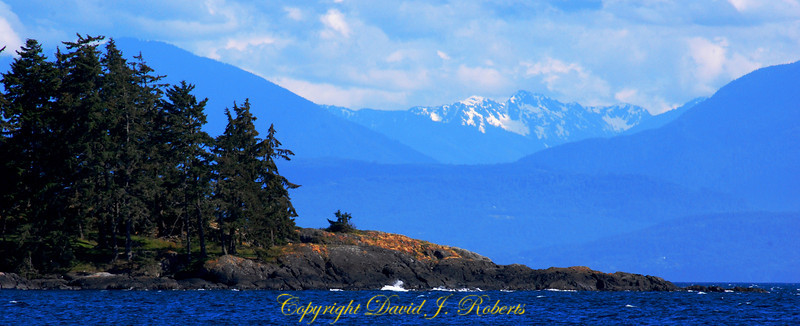 Point near Sooke BC with Olympic Mtns in the background