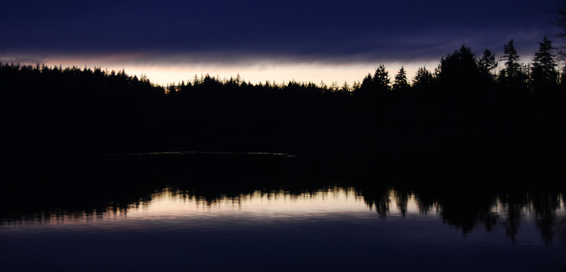 Lake Padden at sunset