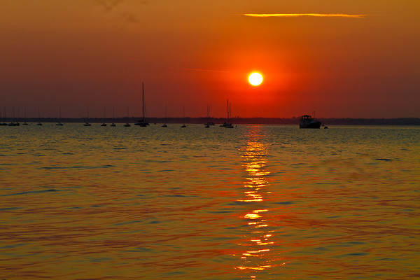 Sunset from East Cowes