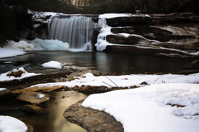 Mill Shoal Falls in January