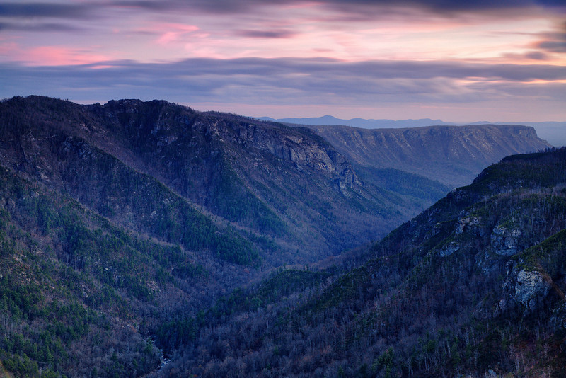 Wiseman's View Sunset - Linville Gorge, NC