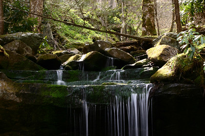 Mossy Waterfall Over Ledge