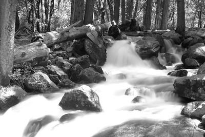 Waterfall below Bridal Veil Falls - Yosemite National Park, California