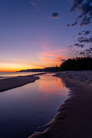 Sunrise - Miners River and Lake Superior