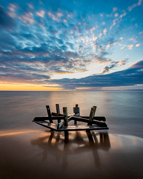 Lake Michigan Deposits a Picnic Table