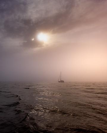 Drifting Into a Foggy Grand Haven Dreamscape