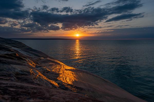 Golden Tears at Lake Superior