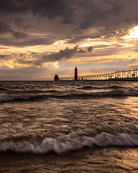 Fire in the Sky in Grand Haven