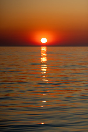 Placid Sunset Over Lake Michigan