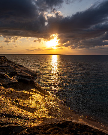 Pictured Rocks National Lakeshore Weeps Golden Tears