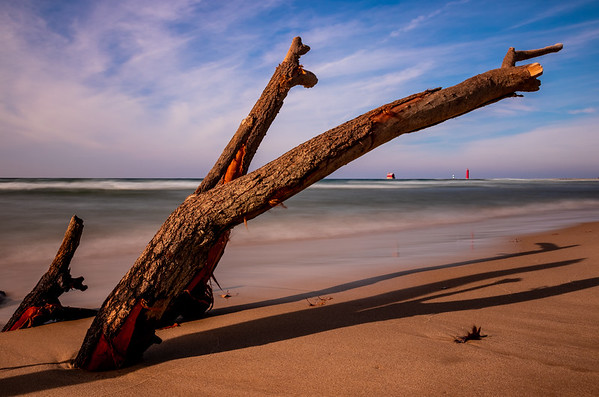 Driftwood's Eye View of the Grand Haven Lighthouse and Pier
