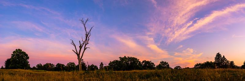 Open Skies at Sunset Panorama