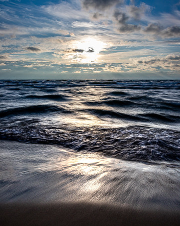 Wild Lake Michigan