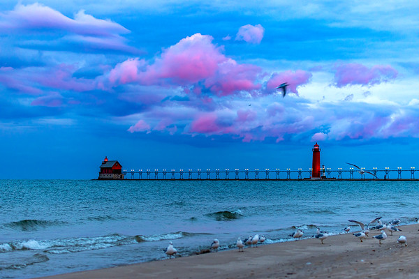 Grand Haven - Pink at Sunrise
