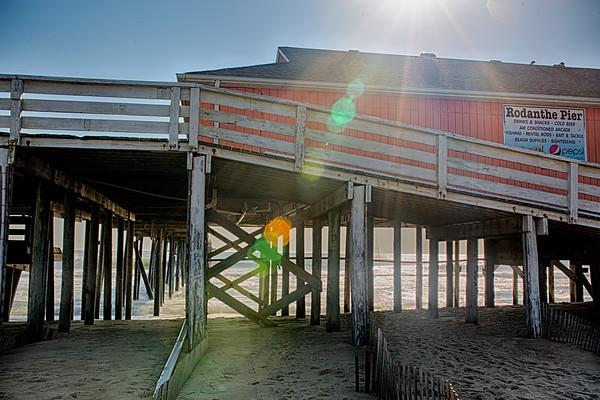 Lens Flare Rodanthe Pier