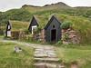 at the  Strokkur Folk Museum - sod houses
