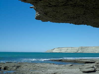 Sea cave of fossil rock, Peninsula Valdes, Argentina 3/2010