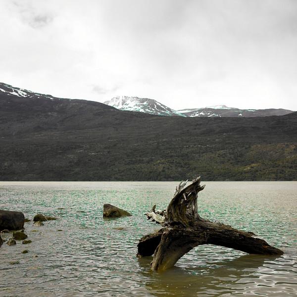 Lake, Straights of Magellan, Chile, October, 2007