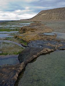 Rocky shoreline, Peninsula Valdes, Argentina 3/2010