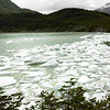 Glacial lake, Straights of Magellan, Chile, October, 2007