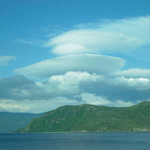 Lenticular cloud, Gros Morne, Newfoundland, July, 2008