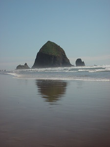 Haystack Rock at Cannon Beach, Ore.
