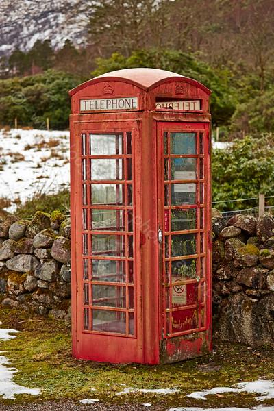 Telephone Box at Glen Etive - 7 February 2015