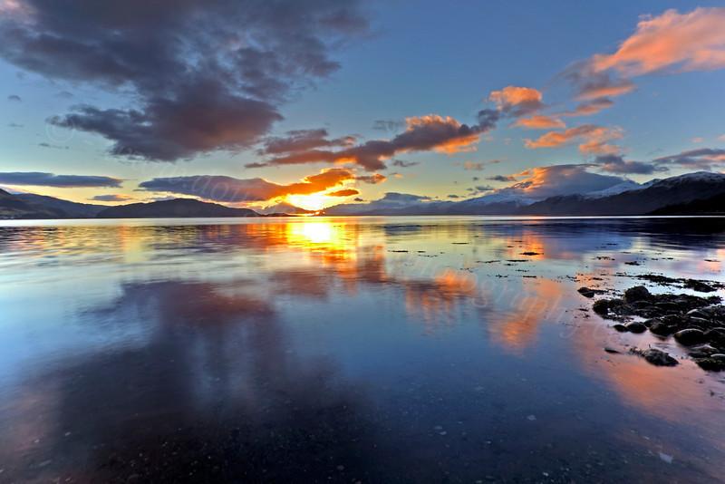 Sunset Over Loch Linnhe - 7 December 2012
