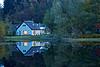 Cottage at Twilight on Loch Ard - 7 October 2012