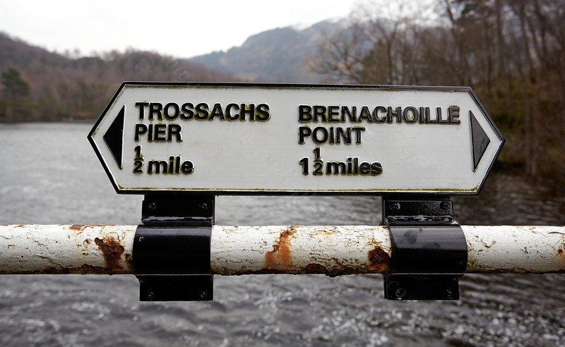 Which Way to Go at Loch Katrine in the Trossachs - 30 January 2014